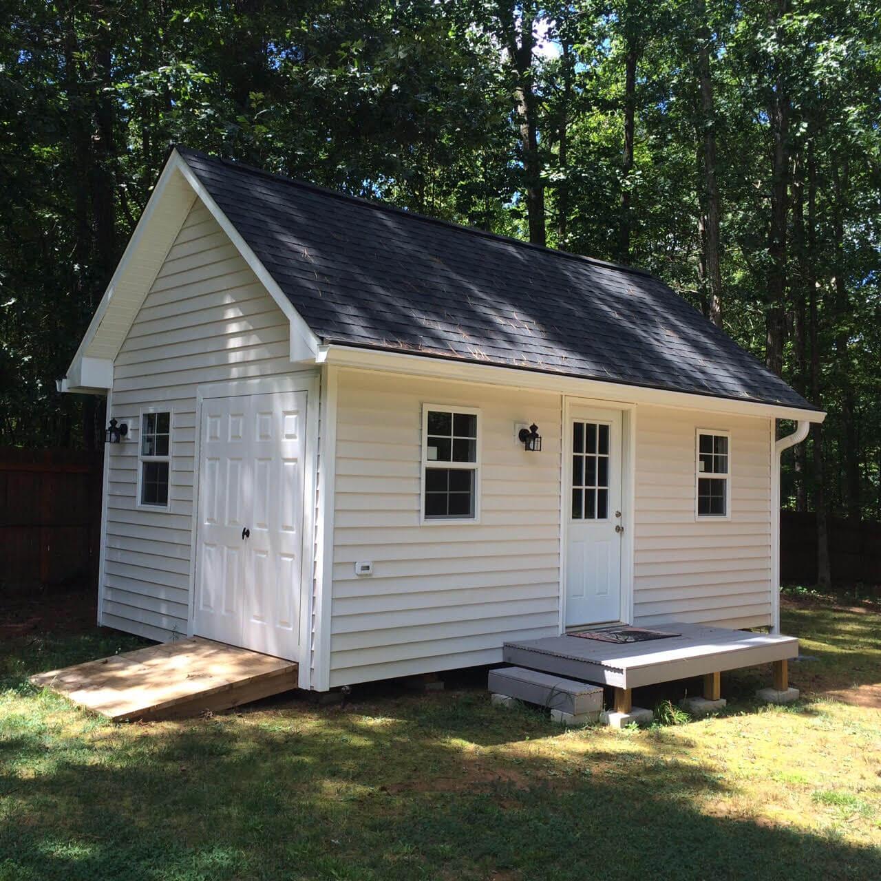 New Multipurpose Outdoor Shed Raleigh | Chalet | Carolina Yard Barns NX46